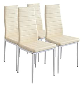 Albatros 2702 set di 4 sedie milano beige - Sedie cucina amazon ...