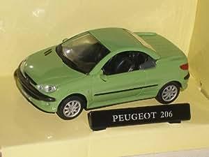 Peugeot 206Cc 206 Cc Coupe Grün 1/43 Cararama Modell Auto Modellauto