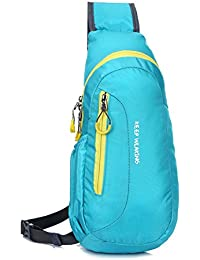 Rrimin Casual Crossbody Bag Waterproof Chest Bags Running Outdoor Bag