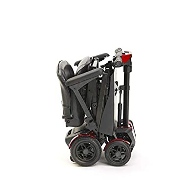 Drive Devilbiss 4 Wheel Automatic Folding Scooter by Remote Control Red