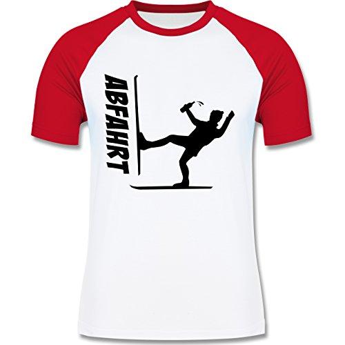 Shirtracer Après Ski - Ski Abfahrt - Herren Baseball Shirt Weiß/Rot
