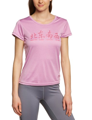 Li Ning C292-56 T-shirt pour femme Rouge - Violet