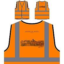 Bassano Del Grappa Italie Funny Nouveauté Veste de protection orange personnalisée à haute visibilité a664vo
