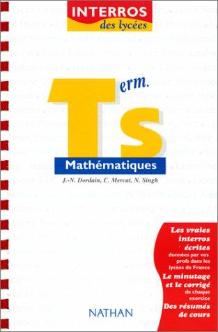 Interros des lycées, mathématiques niveau terminale S