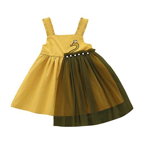 JYJM Baby Mädchen Pettiskirt aus besticktem, trägerlosen Kleid Prinzessin Brautjungfer Festzug...