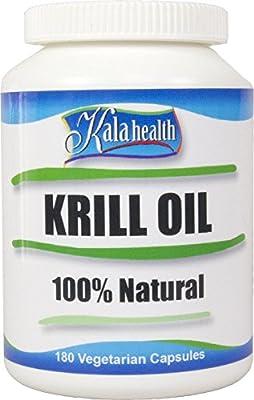 Kala Health - Superba® Krill Oil 180 vegetarian Licaps® Capsules Omega-3, Omega-7 and Omega-9 Fatty Acids.