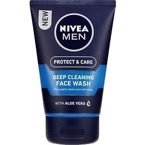 NIVEA Hombres Limpieza profunda Face Wash 100 ml – Paquete de 3