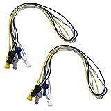 5 Paires Lacets de Sport Multicolore 100cm sans Cravate Système de Serrure Élastique Verrouillage Chaussures Coureurs Entraîneurs Enfants Adultes