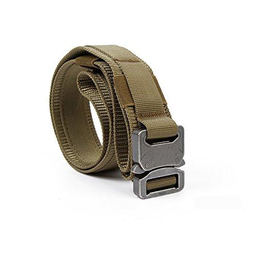 Yisibo Tactical-Cintura in vita con sistema a Molle, stile militare, 3,81 cm (1,5