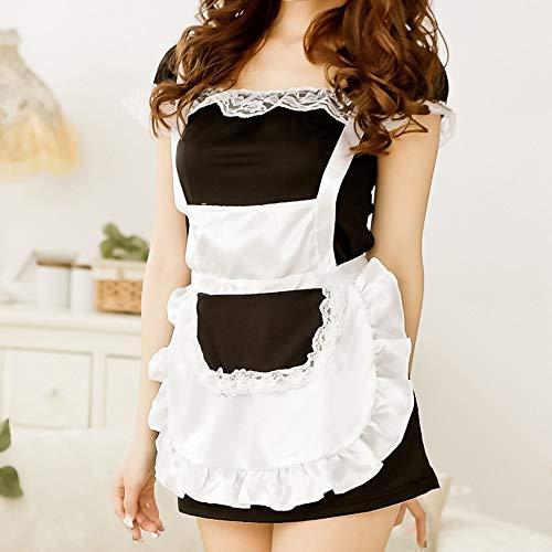 Europäische und amerikanische Uniform Temptation Classic Maid Kostüm Lace Short Sleeve Mini Rock Maid - Lace Short Sleeve Kostüm