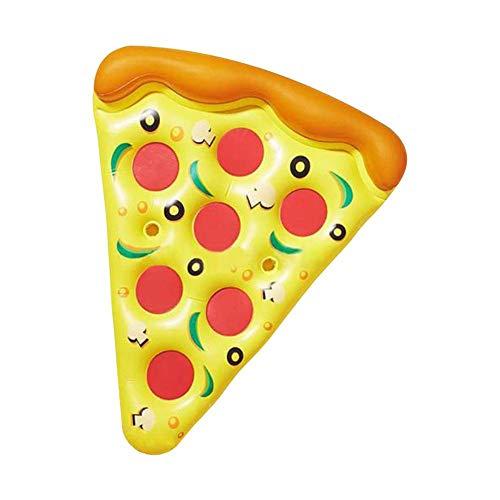 Colchoneta Hinchable De La Piscina Flotante Pizza Línea Inflable Boya Hinchables Juguete...