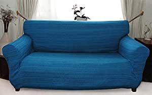 stretch husse blau hussen f r sofa 3 sitzer sofahusse. Black Bedroom Furniture Sets. Home Design Ideas