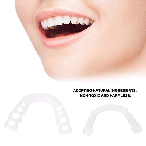 H&Y Zahnersatz Kosmetische Zähne Sofortiges Lächeln Zähne Whitening Perfekte verblendung Zahnprothese Natürlich Neue Bequeme perfektes Lächeln Eine Grösse passt Allen -