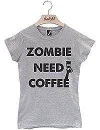 Batch1 Zombie Need Coffee Novelty Fashion Halloween Fancy Dress Womens T-Shirt