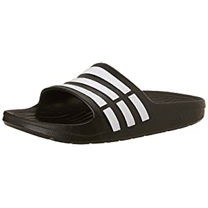 adidas Duramo Slide Sandal (Toddler/Little Kid/Big Kid),Black/Running White/Black,6 M US Big Kid