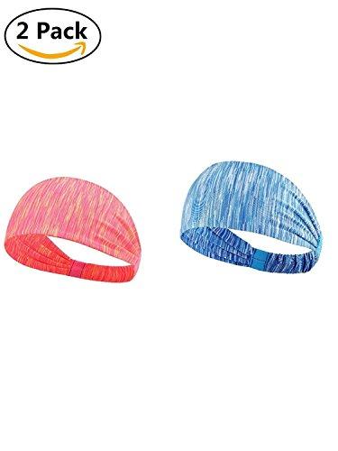 adbands, elastisch Wicking dehnbar Schweißband leicht Multi Stil Kopf Wrap Fitness Übung Haarband für Damen und Herren 2 (Family-dollar-buch-taschen)