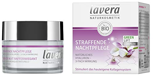 lavera Straffende Nachtpflege Karanja mit 3-fach wirksamem Hyaluron/ Anti Falten Nachtcreme/...