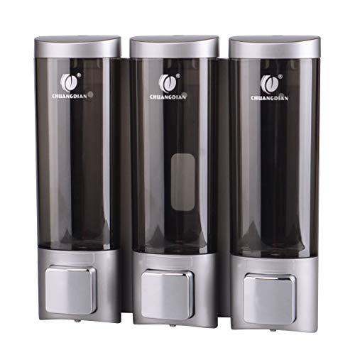 Zerama DREI Kopf Flüssigseifenspender Wand-Badezimmer Hand Sanitizer Dusch-Shampoo Dispenser Hotels Liquid Soap Container