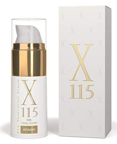 X115 Anti Aging Creme für Frauen, Hyaluron, Kollagen, Arganöl, Vitamin C, 1er Pack (1 x 15 ml)