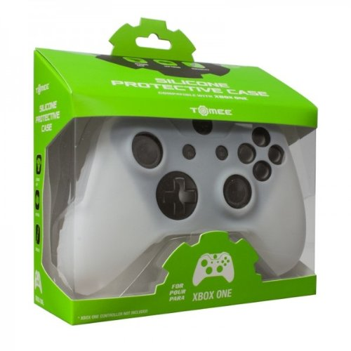 Tomee Xbox One Silicone Skin Protective Case Controller (White)