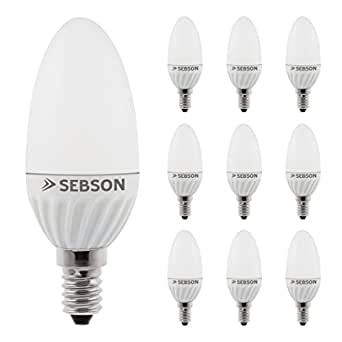SEBSON® 10 x E14 3W LED, Warm White, 25W Replacement for Light Bulb, 250lm, 160º Beam Angle