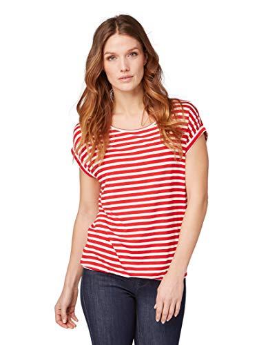 TOM TAILOR für Frauen T-Shirts/Tops Gemustertes T-Shirt red Stripe, XL