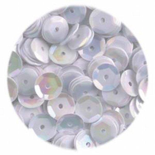EFCO runde, flache Pailletten, weiß, 6mm, 40g, 4000 Stück