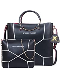 40532725ad Speed X Fashion Women s Handbags And Shoulder Bag Combo (Black)