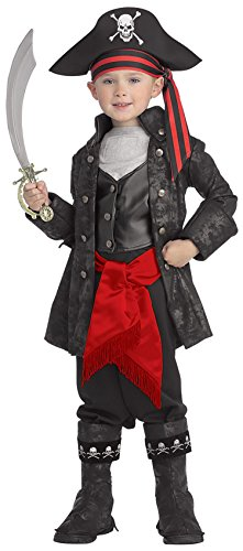 Pirates of the Seven Seas Child's Captain Black Costume, Medium by - Kid's Captain Black Piraten Kostüm