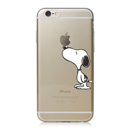 iPhone Cover di licaso® per il Apple iPhone 6 & 6S di TPU Silicone Snoopy Peanuts Charly Brown Modello molto sottile protegge il tuo iPhone 6 & 6S con stile Cover e Bumper