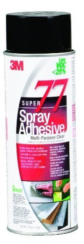 3m-super-77-spray-adhesive-low-voc-25-clear-24-fl-oz-can-net-wt-180-oz-pack-of-1-by-3m