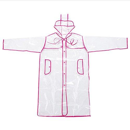 Die Für Overall Jagd (MultiWare 83 CM Regenponcho Damen Durchsichtig Regencape Transparent Schwarz Rregenmantel Transparen (Rosa))
