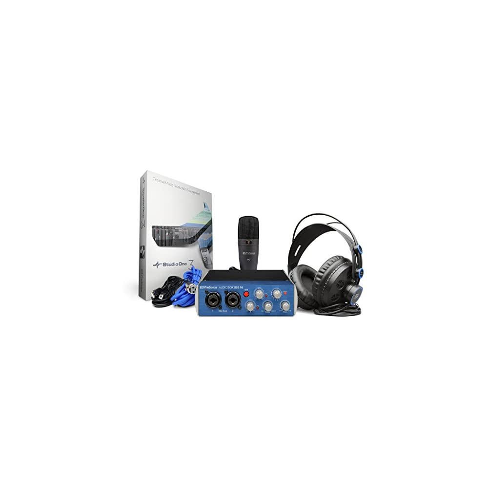 Presonus Audiobox USB 96 Studio - Scheda audio + Microfono + Cuffie ... e569a08ea38e