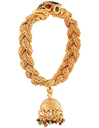Ganapathy Gems Gold Plated Bracelet With Jhumka Drop And Screw For Women