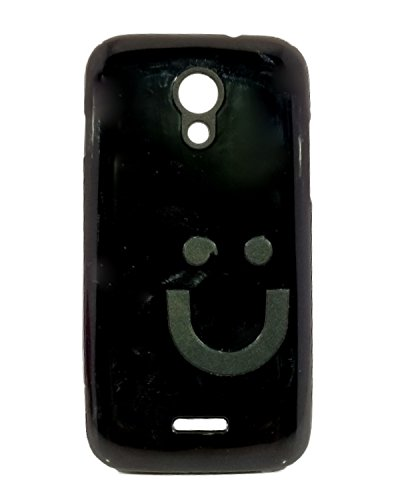 iCandy™ Imported Quality Soft TPU Smiley Back Cover For Micromax Canvas 2.2 A114 - Black  available at amazon for Rs.109