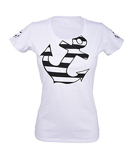 Küstenluder Sailor ANCHOR Black Retro Anker Shirt / T-Shirt Weiß mit schwarzem Print