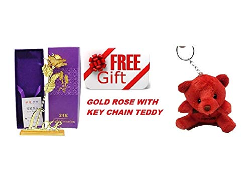 Livsmart 24K Red Gold Rose 10 Inches with Gift Box - Best Gift for Loves Ones, Valentine's Day, Mother's Day, Anniversary, Birthday