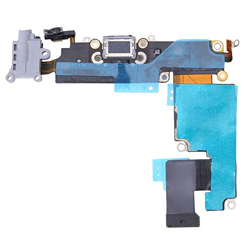 AFfeco Charger Port Connector Headphone Jack Flex Cable (for iPhone 6P Dark Grey) Jack Port Connector