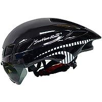 Murphytonerty Casco de Seguridad para Bicicleta protección de montaña, Casco de Ciclismo, Resistente al Agua y al Polvo, Color Negro, tamaño 57-61cm/22.4 * 24 Inch
