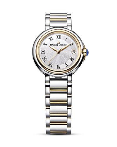 Maurice Lacroix Damen Analog Quarz Uhr mit Edelstahl Armband FA1004-PVP13-110-1