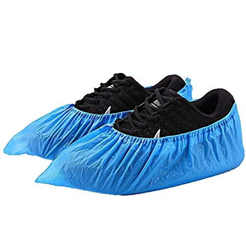 100 x Cubrezapatos Desechables Alfombra,Protectores de Zapatos Gofrado. Uso Ligero a Medio Desechables...