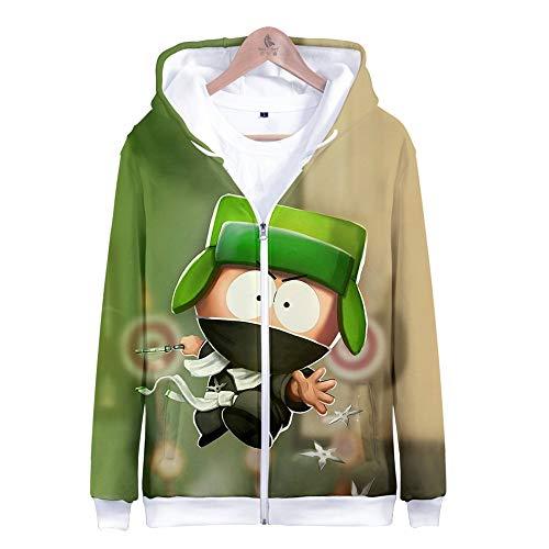 MANSPYF Kapuzenpullover,Männer Mit Reißverschluss, Kapuzenpulli Und Reißverschlussjacke 丨 3D Weich Und Stilvoll Cool 丨 Ms, South Park, M, Photo Color South Park Hose
