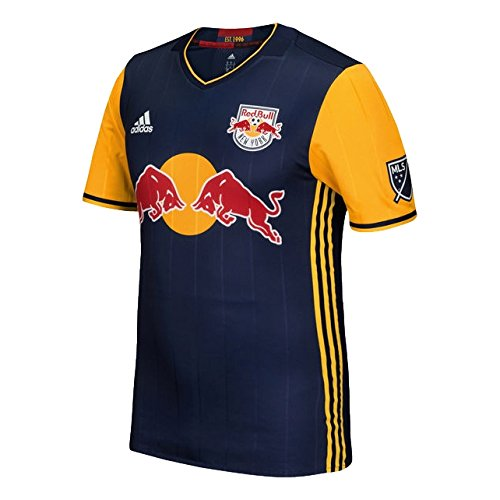 adidas New York Red Bulls 2016 Authentic Away Jersey [Navy], Uomo, Navy