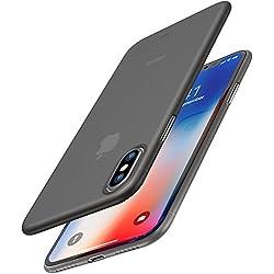 Funda iPhone X, TOZO PP[0.35mm] Ultra Delgada [0.35 mm] Más Fina del Mundo Proteger El estuche Rígido [Semi Transparente] Ligero Protective Case Cover iPhone 10 / X [Negro Mate]