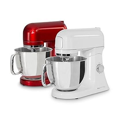 Vollmetall-Kchenmaschine-Frida-1000W-Ganzmetall-Rhrmaschine-leistungsstark-mit-8-Geschwindigkeitsstufen-Pulse-Funktion-45-L-Edelstahlschssel-Zubehr-zeitloses-Design