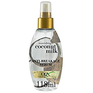 OGX Nourishing Coconut Milk Anti Breakage Serum, 1er Pack (1 x 118 ml)