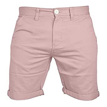 Mens Chino Shorts Casual 100% Cotton Cargo Combat Half Pant Summer Jeans New (30, Baby Pink)