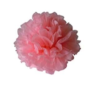 4 Inch Matrimonio Palla Di Carta Velina Pom-pom Fiore Decorazione Del Partito - Rosa