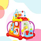 ZHAOHUIFANG Toys 806 Happy Small World Baby Study Table Multi-Function Puzzle Game Table Children Early Education 1-3 years Old