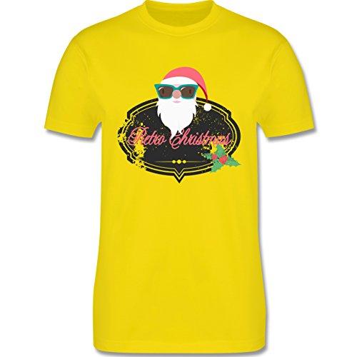 Weihnachten & Silvester - Retro Christmas Weihnachstmann - Herren Premium T-Shirt Lemon Gelb